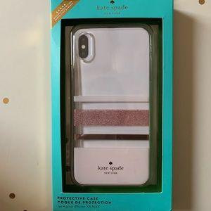 kate spade iPhone XS Max Rose Gold Blush Pink Case